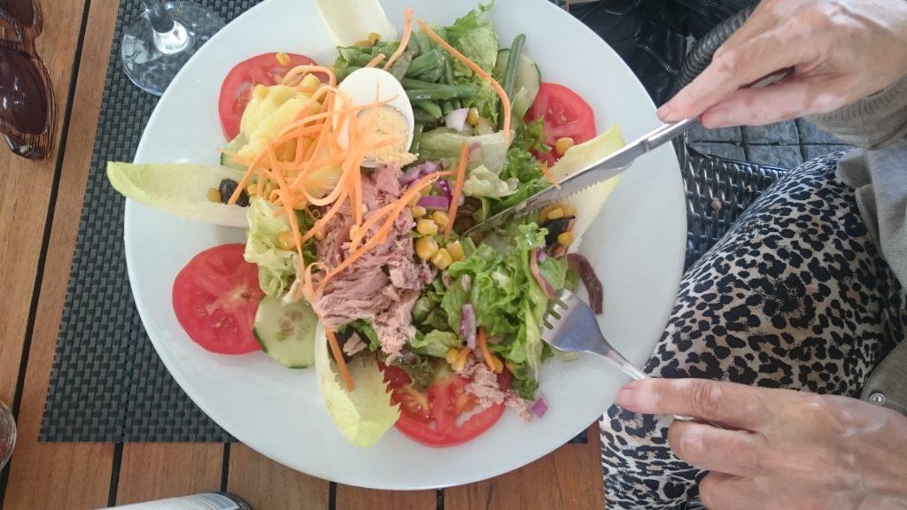 Nizzan salaatti Orangen kaupungin malliin.